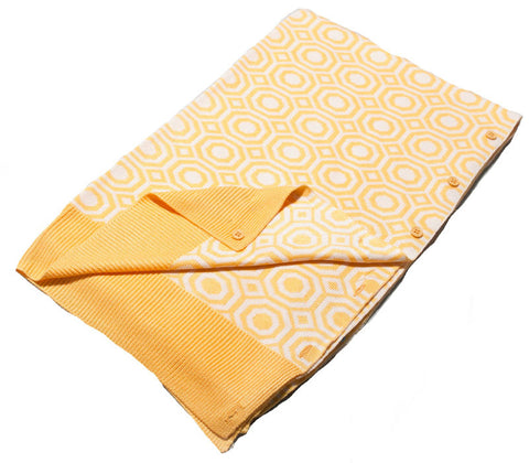 Bamboo Yellow and White Tile Cardigan Shawl Scarf 3 in 1 by Papillon -   - 1