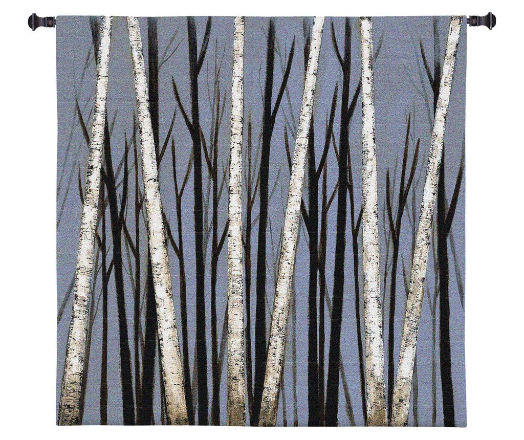 Birch Shadows Wall Tapestry by Eve©