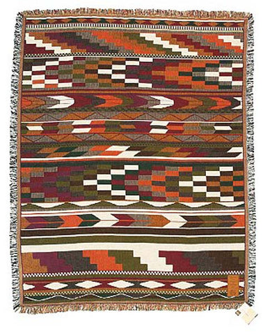 "Debra Sparrow© ""Ten"" Northwest Native Throw Blanket"