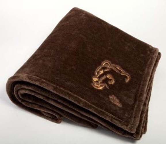 "Graham Howard© ""Angry Bear"" Plushera™ Throw Blankets- Taupe"
