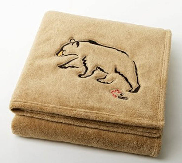 "Graham Howard© ""Black Bear"" Velura™ Throw Blanket - Camel"