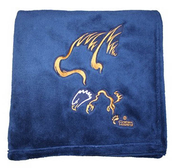 "Graham Howard© ""Eagle"" Velura™ Throw Blanket - Navy"