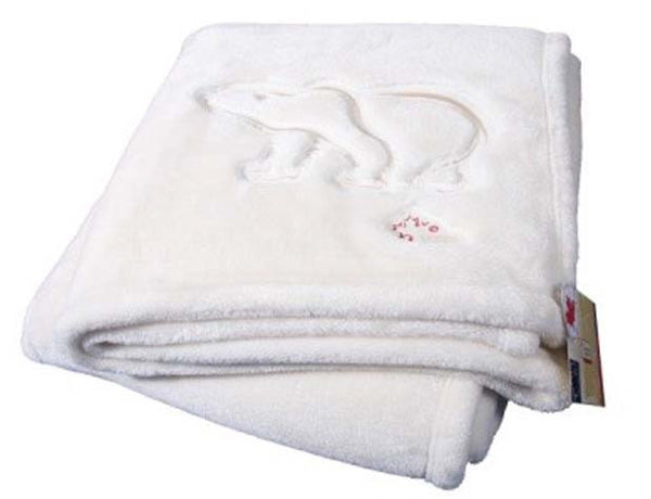 "Graham Howard ""Polar Bear"" Plushera™ Throw Blanket - Vanilla White"