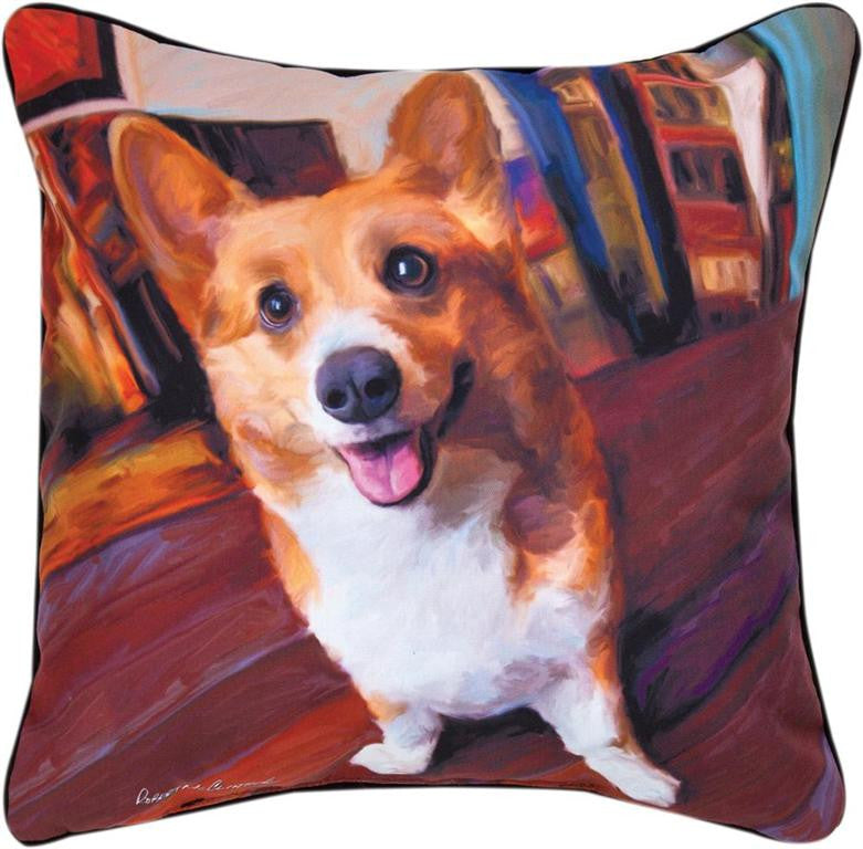 Corgi Get Low Pillow by Robert McClintock -