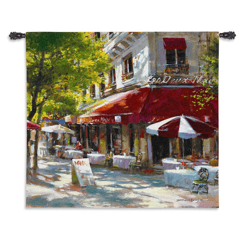 Corner Cafe II Wall Tapestry by Brent Heighton© - Cityscape