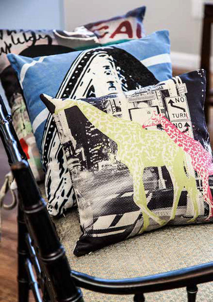 Custom Throw Pillow Covers Printed with Your Art|Poly Twill