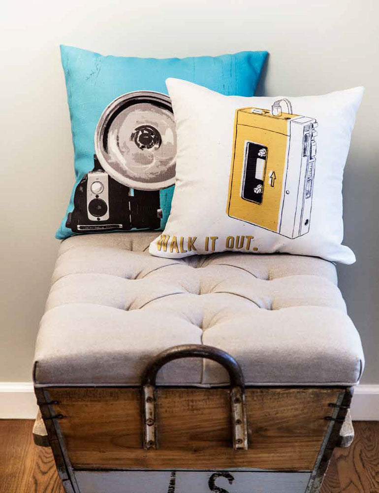 Custom Throw Pillow Covers Printed with Your Art|Faux Linen