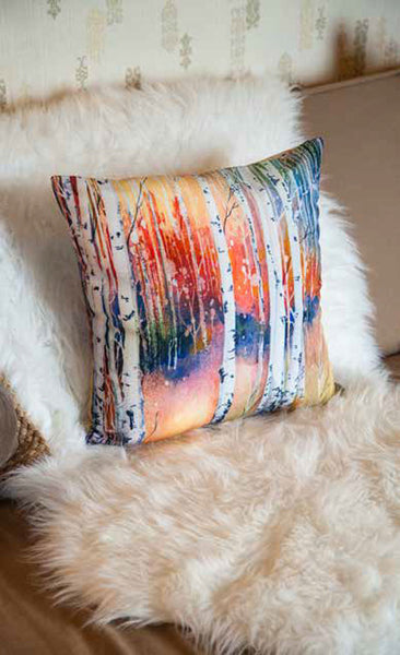 Custom Throw Pillow Covers Printed with Your Art|Spun Poly Poplin