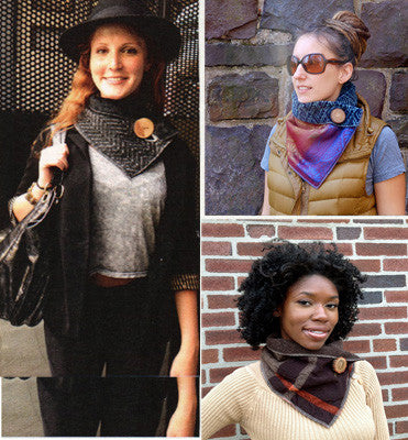Fall Classic Plaid Upcycled Neckwarmer - One-of-a-Kind -   - 6