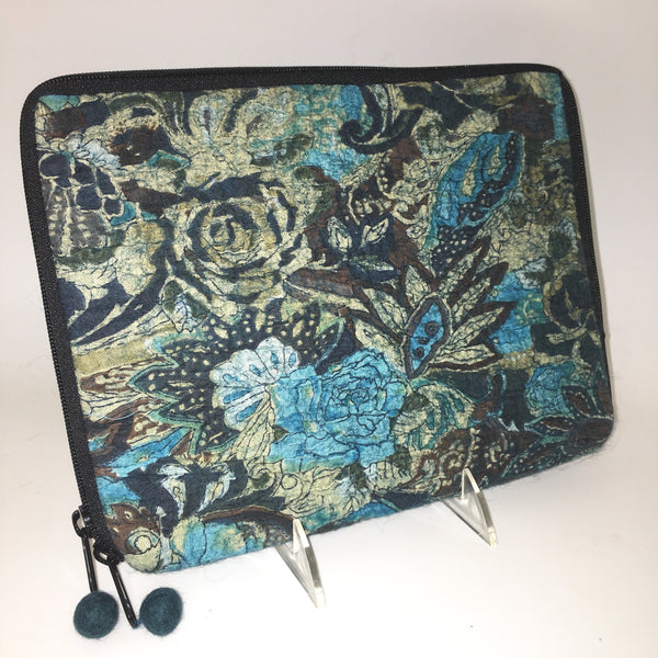 Pop Art Nuno Felted iPad Cover or Clutch - Handmade One-of-a-Kind