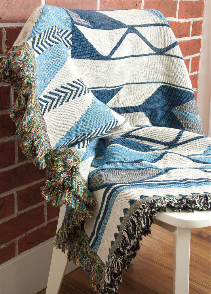 "Debra Sparrow© ""River Ripples"" Throw Blanket"