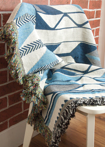 "Debra Sparrow© ""River Ripples"" Woven Throw Blanket"