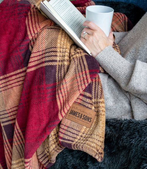 Red Plaid Velura™ Cabin Throw|Decorating Option