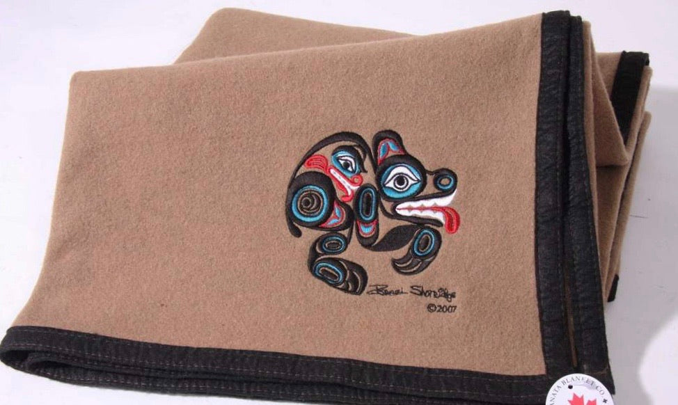 "Israel Shotridge© ""Bear"" Trail Wool Blanket