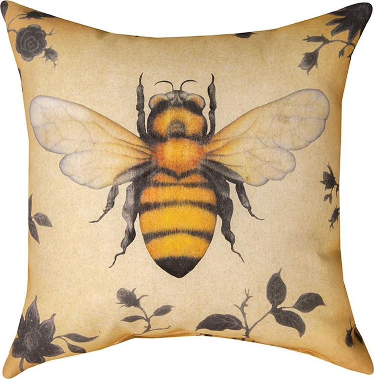 Insects Bee Indoor/Outdoor Pillow -