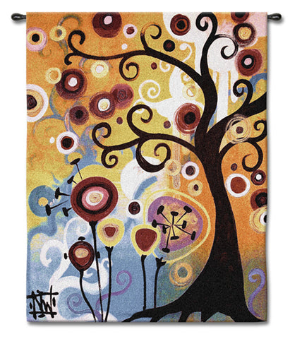 June Tree Wall Tapestry by Natasha Wescoat© - 2 Sizes