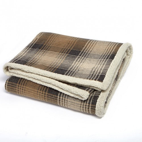 Cottage Plaid Throws w/Faux Alpaca|3 Colors