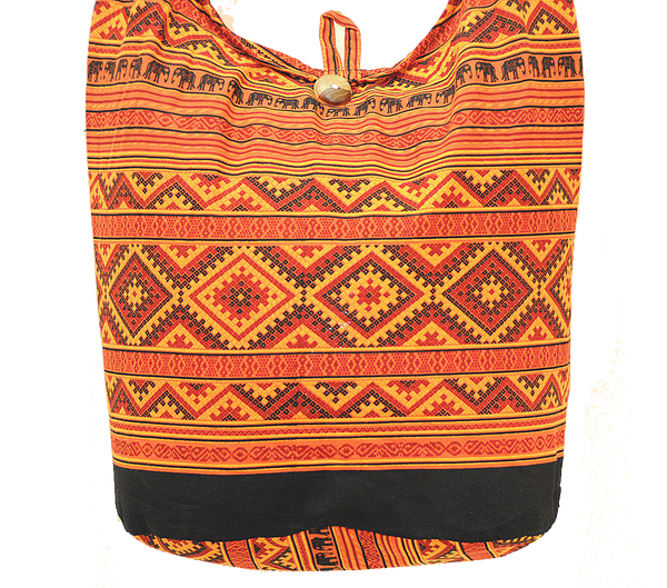 Thai Boho Sling Bag - Elephant Ethnic Orange -   - 2