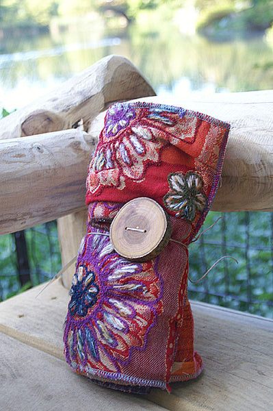 Flower Burst Upcycled Neckwarmer - One-of-a-Kind -   - 4