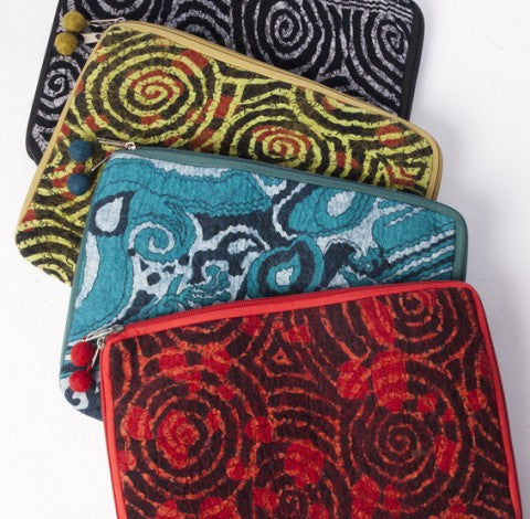 Pop Art Nuno Felted iPad Cover or Clutch - Handmade One-of-a-Kind -   - 1