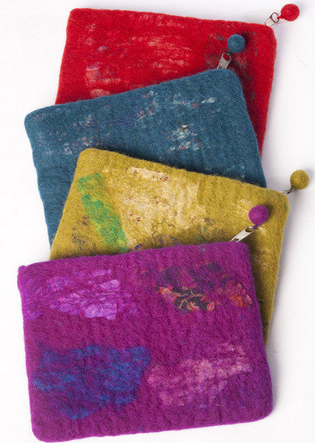 Nuno Felted Wool Sari Collage Accessory Purses One-Of-A-Kind Handmade -   - 1