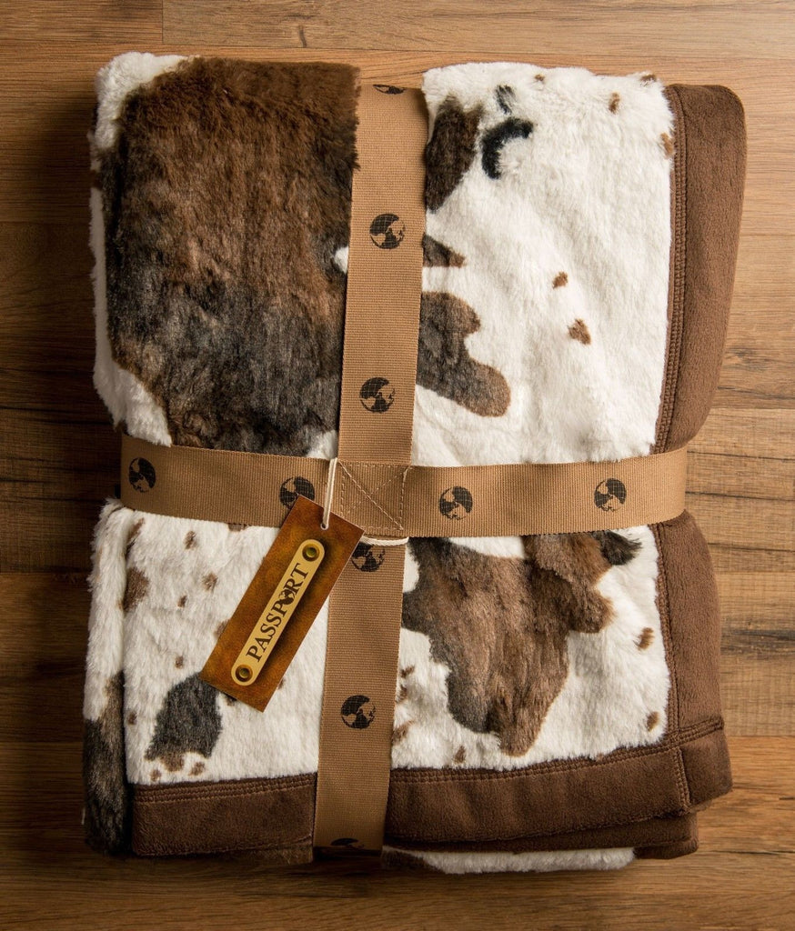 Old Paint Faux Fur Throw Blanket - Oversized -