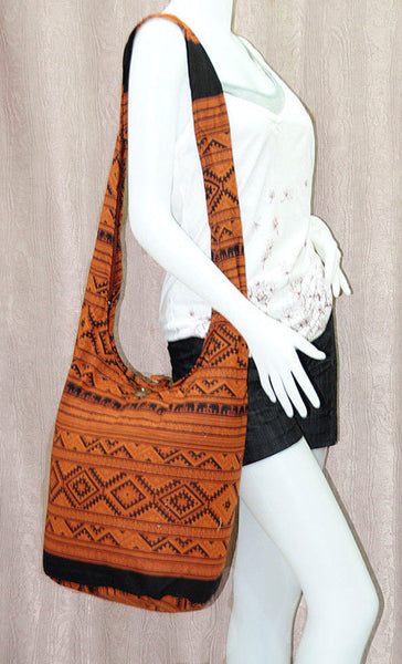 Boho Sling Bag - Elephant Ethnic Brown