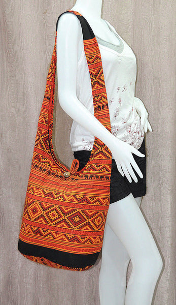 Boho Sling Bag - Elephant Ethnic Orange