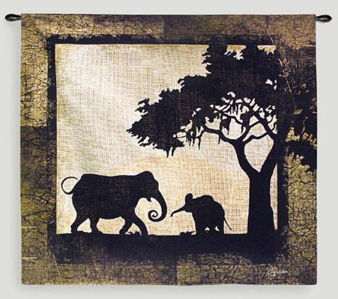 Serengeti Elephants Wall Tapestry by Jennifer Pugh -