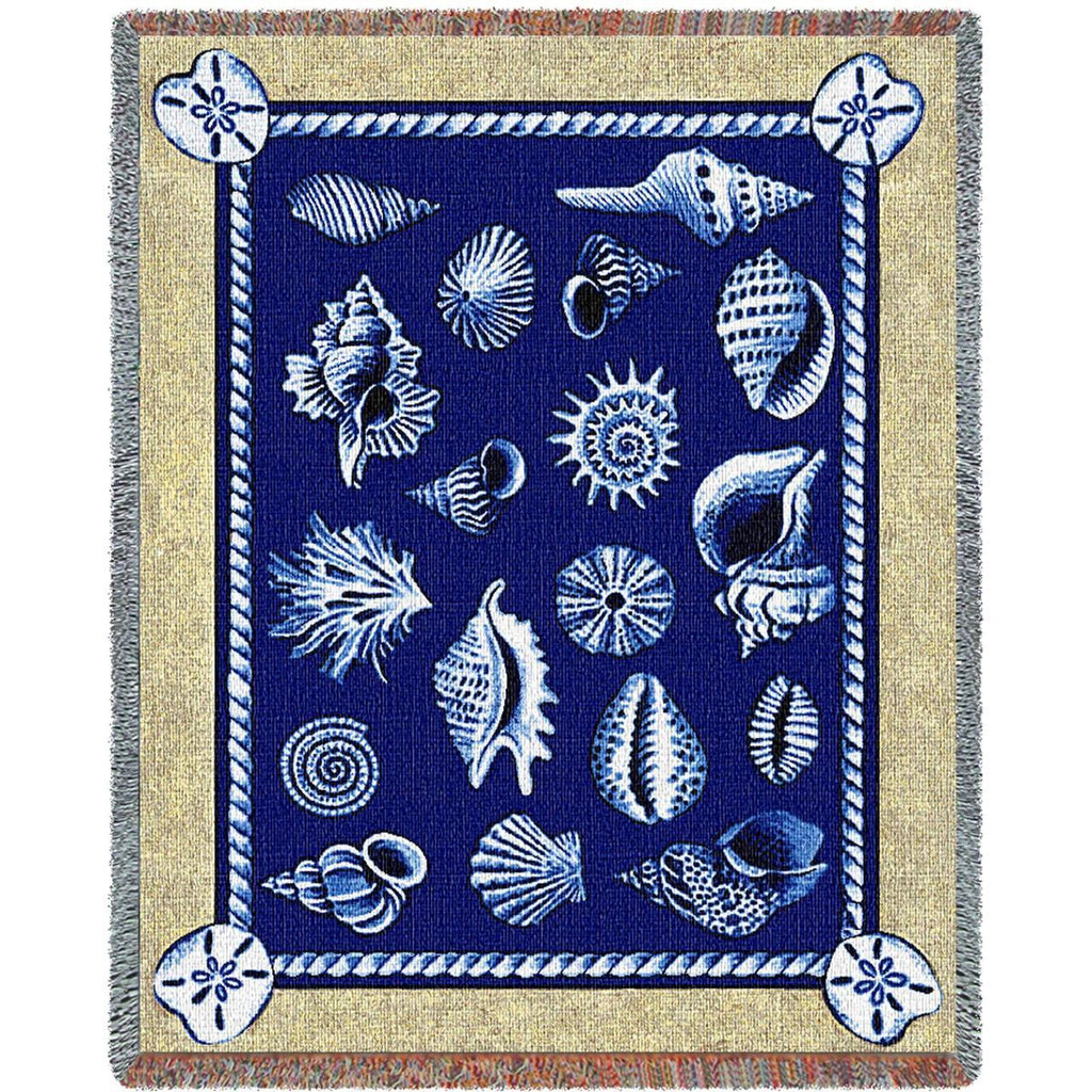 Shell Collection Woven Throw Blanket