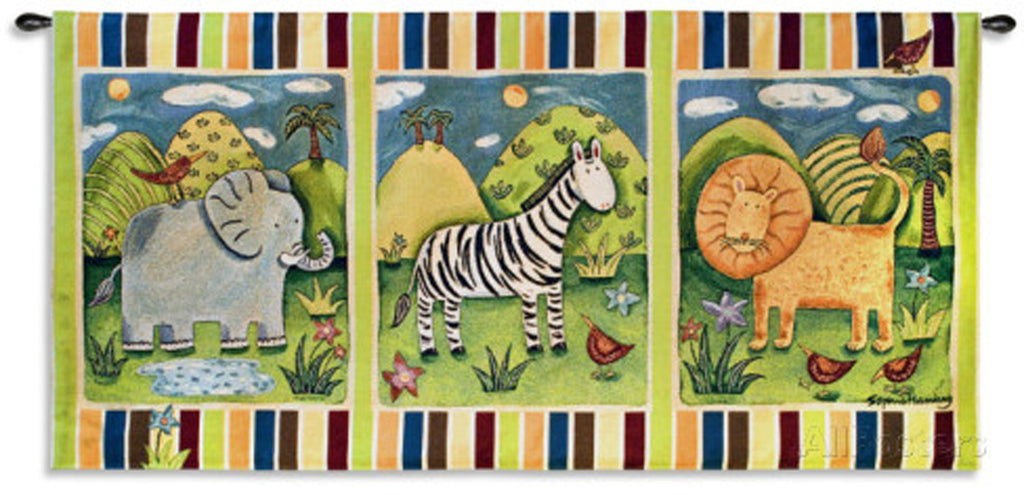 On Safari Wall Tapestry by Sophie Harding©