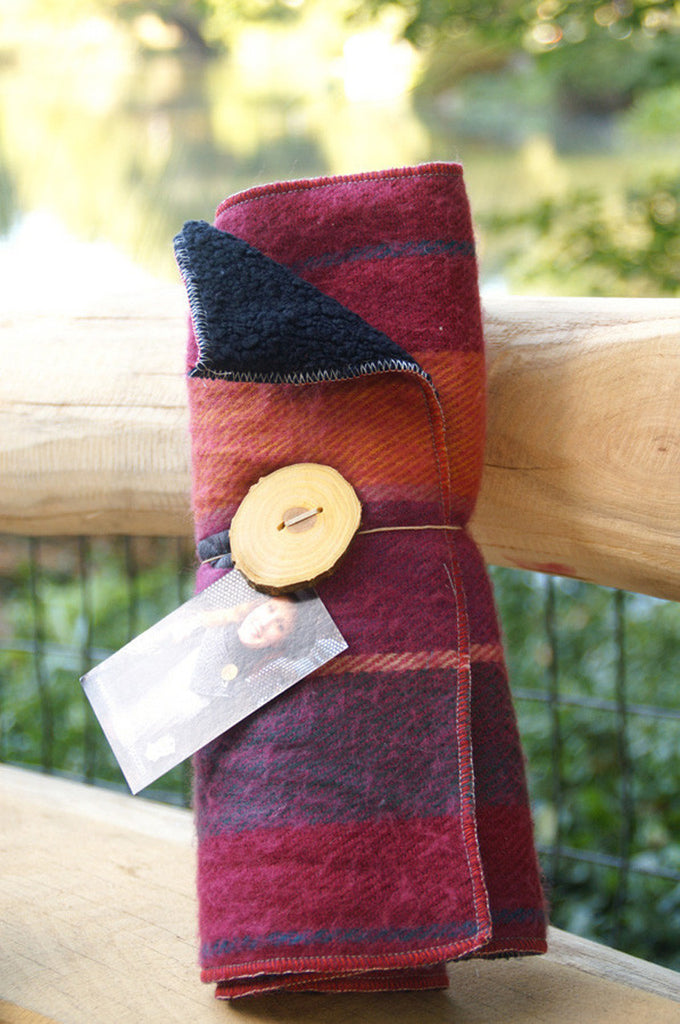 Sorbet Plaid Upcycled Neckwarmer - One-of-a-Kind -   - 1