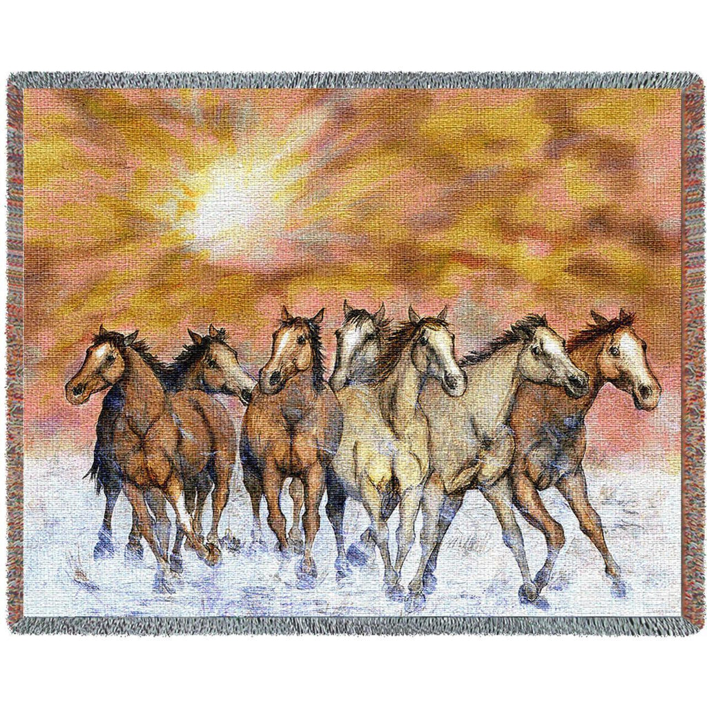 Sunset Run Woven Throw Blanket