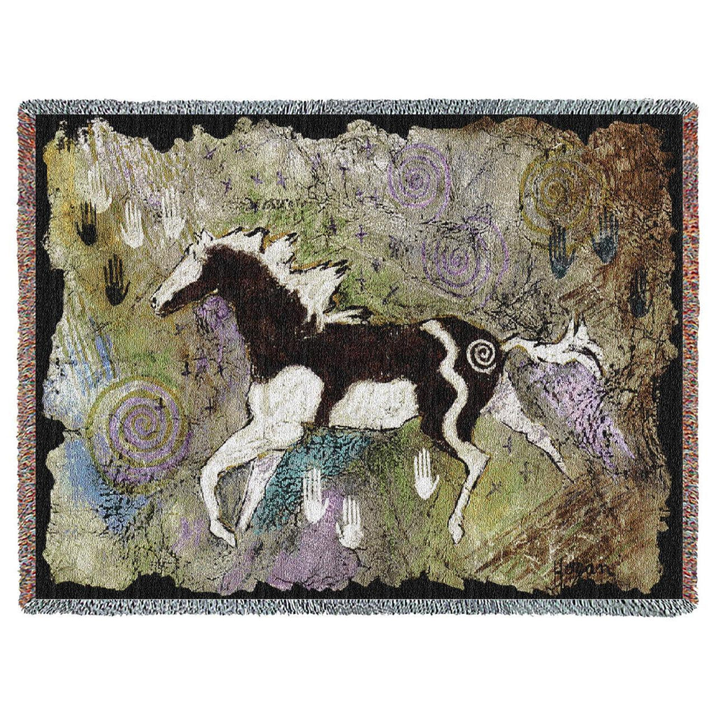 Southwest Magical Pinto Woven Throw Blanket