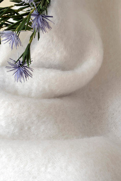 White Mohair Scarf - Ezcaray, Spain