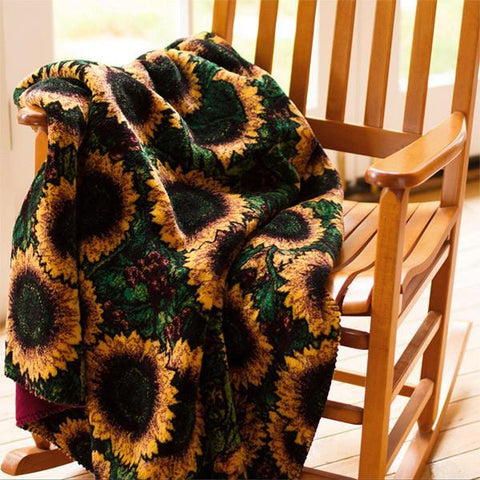 Denali Microplush™ Throw - Sunflowers