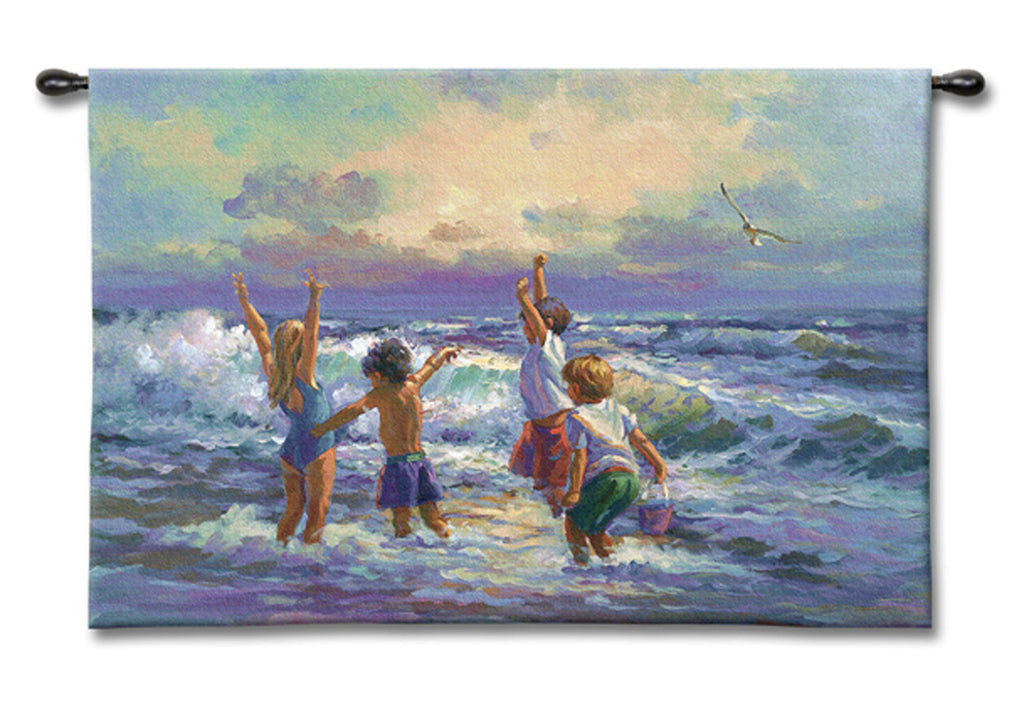 Surf Dancers Wall Tapestry by Lucelle Raad©