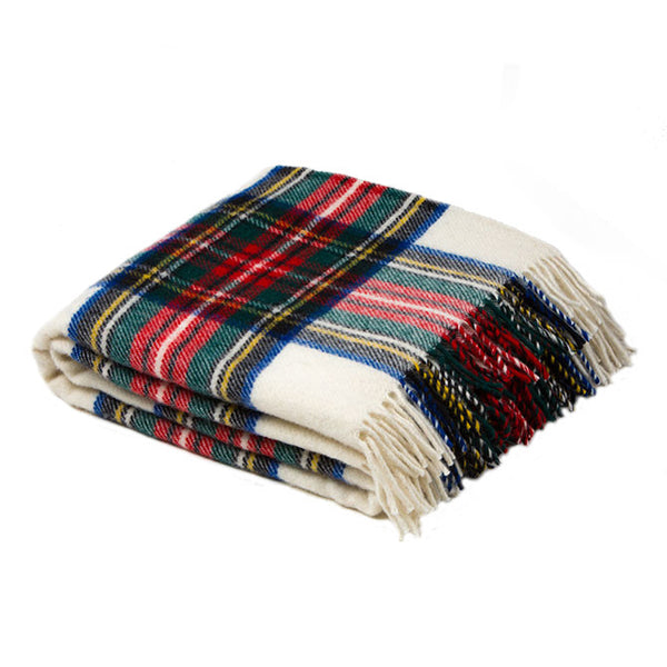 British Traditional Tartan Wool Blanket by Tweedmill -   - 4