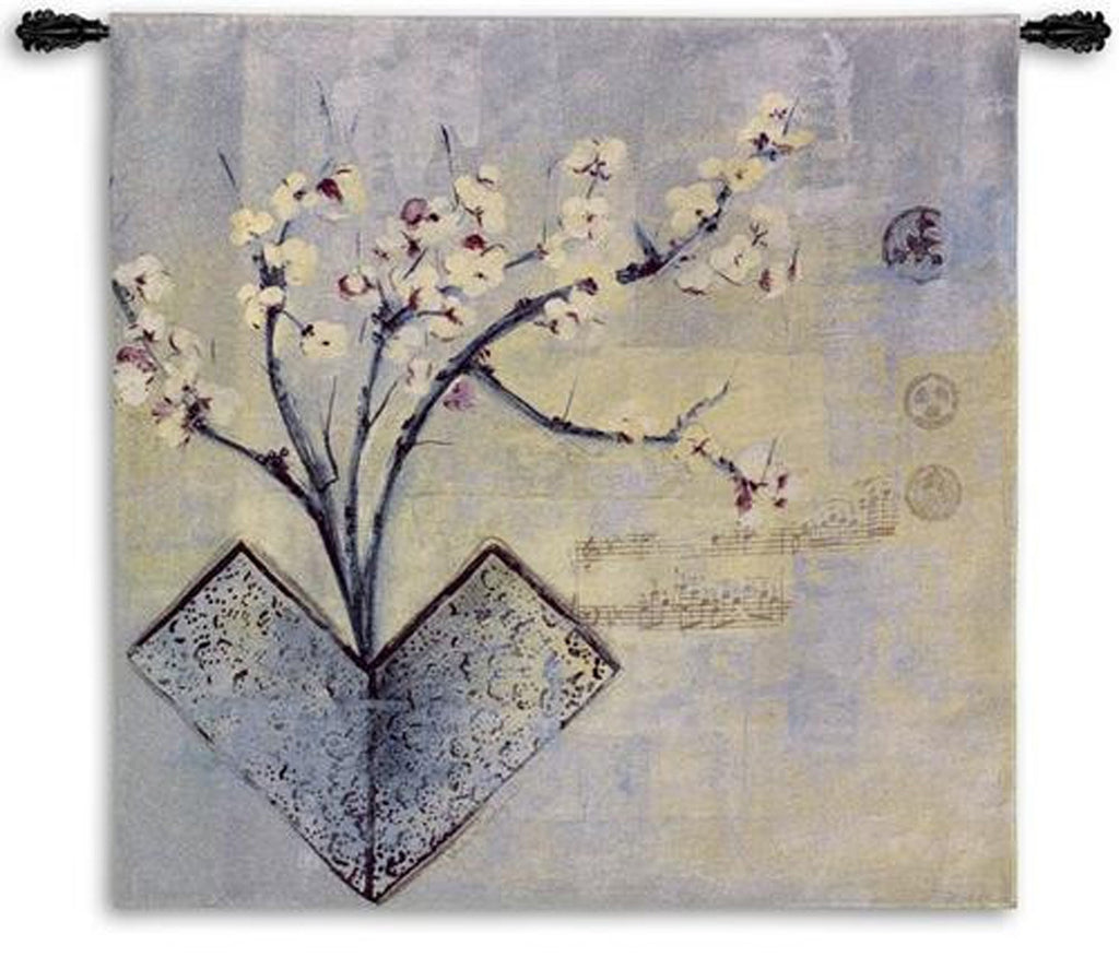 Zen Flower Asian Inspired Wall Tapestry by Asha Menghrajani© -
