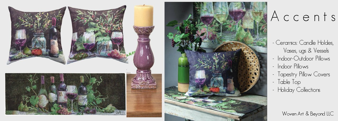 Accents: Tableware, Accent Indoor & Outdoor Pillows, Ceramics, Holiday Decor