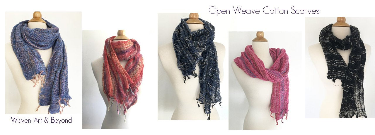 Bohemian Open Weave Cotton Scarves