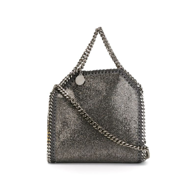 Stella McCartney Falabella Tiny Tote 391698w9752 Black Faux Leather Shoulder Bag