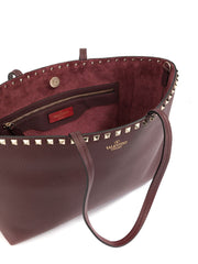 Valentino Garavani Rockstud SW2B0B71VSF Purple Leather Tote