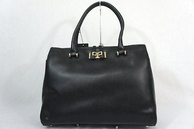 Furla 758273 Large Mediterranea Shopper Onyx Textured Leather Tote