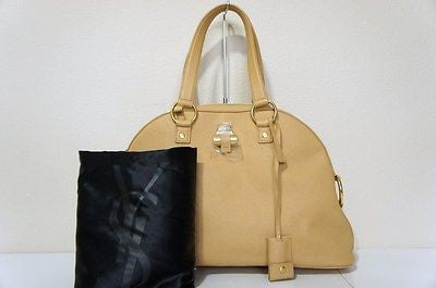 YSL Saint Laurent Large Muse Top-Handle Bag NATURAL