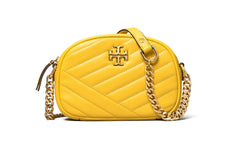 Tory Burch 60227 Kira Chevron Small Camera Limone Bag