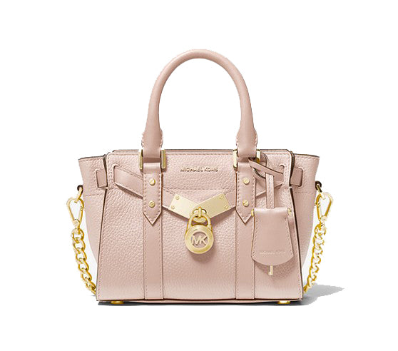 Michael Kors Nouveau Hamilton Extra Small Pebbled Leather 32H9G0HC2L Soft Pink Crossbody Bag