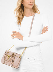 Michael Kors Nouveau Hamilton Extra-Small Pebbled Leather 32H9G0HC2L Soft Pink Crossbody Bag