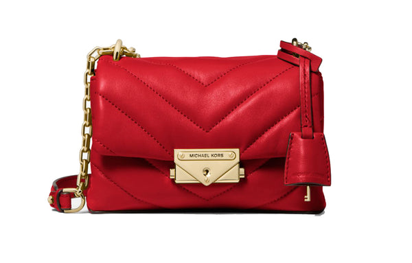 Michael Kors Cece Extra-Small Quilted Leather Crossbody Bag 32T9G0EC1L Bright Red