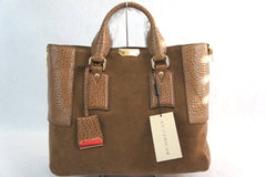 Burberry Medium Callaghan Suede & Leather Satchel